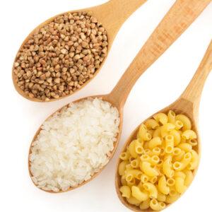 pâtes / céréales / riz / légumineuses